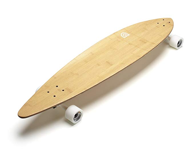 GoldCoast Complete Longboard Classic Bamboo Pintail 44 Inch